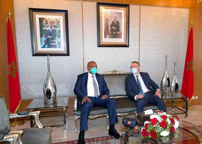 Le président de la CAF Patrice Motsepe en visite au Maroc (détail)